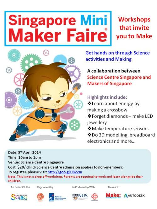 SMMF Family Lead up workshop at Science Centre