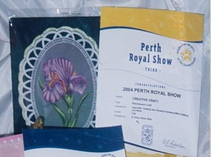 3rd Prize (Parchment card) at Perth Royal Show 2004