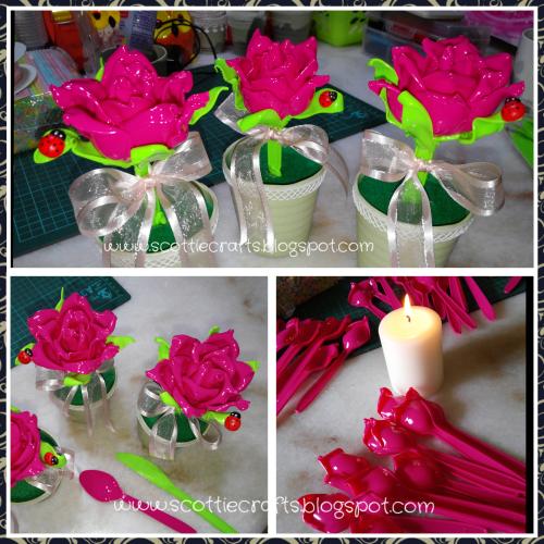 Plastic roses