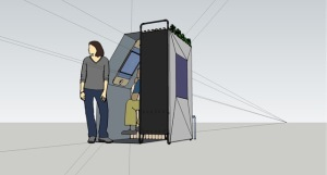 selfie booth illustration